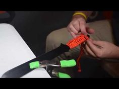 How to make a Paracord Handle Wrap - YouTube