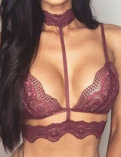 Lace Top Crochet Micro Bikini