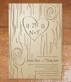 Invitatii de nunta – scrijelit pe lemn