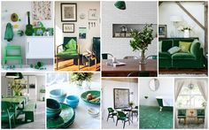 Green Obsession; Design a Perfect Green Themed Home - PaperToStone