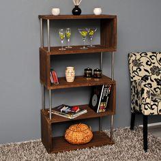 Raumteiler Holz Wand Stand Bücher 126 cm Bad Büro Regal Schrank Shabby Dunkelbraun NEU: Amazon.de: Küche & Haushalt