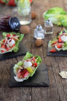 Mi Gran Diversión: Ensalada de cogollos con atún y fresas