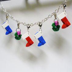 LEGO Christmas Charm Bracelet. $35.00, via Etsy.