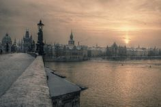 sunrise in Prague by Agnieszka Dargiel