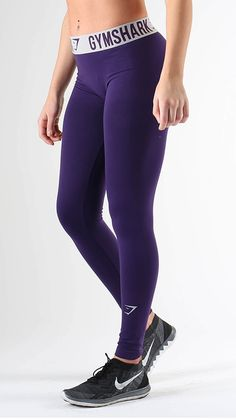 Fit Leggings in Blackberry/Light Grey feature on trend performance waistband. Form hugging and figure flattering to give you extra motivation throughout your workout.