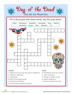 Worksheets Dia De Los Muertos Worksheets de los muertos day of the dead skull mini book english worksheets dia muertos