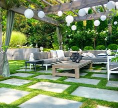From patio string light ideas to outdoor chandeliers, find all kinds of pergola light ideas to make your deck or patio look gorgeous at night Outdoor Pergola, Pergola Lighting, Backyard Patio, Backyard Landscaping, Outdoor Lighting, Indoor Outdoor, Lighting Ideas, Pavers Patio, Pergola Roof
