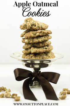 Apple Oatmeal Cookies Recipe | onsuttonplace.com