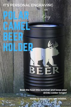 Polar Camel Insulated Beverage Holder keeps drinks colder longer! Stainless Steel beer holder can also be personalized. Polar Camel Beverage Holder holds 12 ounce cans and bottles and are great gifts! #beer #holder #can #bottle #gifts #personalized Customized Gifts, Personalized Gifts, Custom Gifts, Personalized Wedding, Laser Engraved Gifts, Can Holders, Beer Gifts, Drink Holder, Grooming Kit