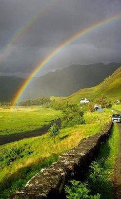 At the Scottish highlands.