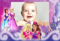 Moldura Montagem convite Barbie fotos