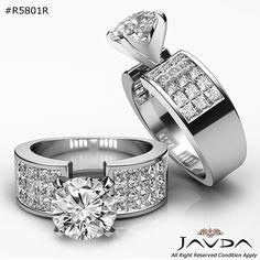 Glistening Round Diamond Heavy Engagement Ring GIA H SI1 14k White Gold 2.29 ct