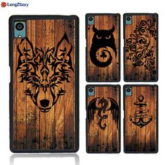 >> Click to Buy << 2017 New Wolf Bible Bat Compass Boat Anchor Wood Pattern Painting For Sony Xperia Z5 Cute TPU PC Phone Cases Back Cover #Affiliate