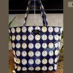 "Spotted while shopping on Poshmark: Kate spade ""got the time"" very rare tote bag! #poshmark #fashion #shopping #style #kate spade #Handbags"