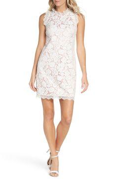 b3a25162b977 Free shipping and returns on Vince Camuto Sleeveless Eyelash Lace Sheath  Dress (Regular  amp