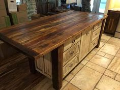 Kitchen Island with Storage, Kitchen Islands with Seating, Custom Kitchen Cabinets, Rustic, Shabby C Farmhouse Chic Kitchen, Rustic Kitchen, Custom Kitchen Cabinets, Shabby Chic Kitchen Decor, Chic Home Decor, New Kitchen Cabinets, Kitchen Island With Seating, Kitchen Cabinet Remodel, Shabby Chic Furniture