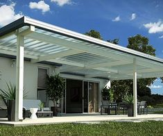 Pergola Attached Plan- like the simple lines and that light can pass through.