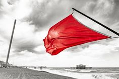 Red Storm #RedStorm #red #flag #warning #wind #westpier #BrightonBeach #storm #BritishAirwaysi360 #alessandrointini #artwork #brighton #canon #b&w #colour #england #fineart #frombrightonwithlove #landscapes #photography #postcard #streetphotography #streetphotography #uk #wallpaper