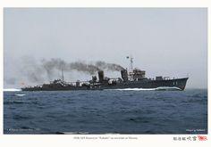 IJN destroyer Fubiki on sea trials at Miyazu Bay, 1928.