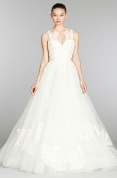 Lazaro :: Sweetheart A-Line Wedding Dress  with Natural Waist in Tulle. Bridal Gown Style Number:32791576