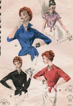 Vintage 1956 Butterick 7640 Sewing Pattern by midvalecottage