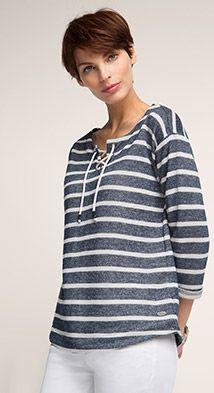 0cb4fc5b33b6af OUTLET edc - two tone striped sweatshirt Edc