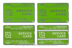 Pictured above; the four different British Telecom (BT) Service Card designs issued between 1981 and 1998. Learn more here: http://www.telephonecardcollector.com/british-telecom-service-cards.htm