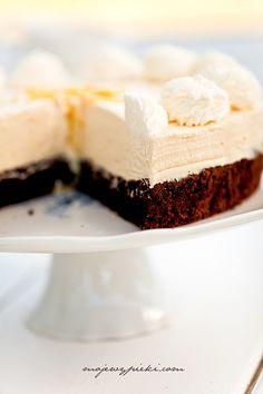 Ciasto czekoladowe z musem cytrynowym