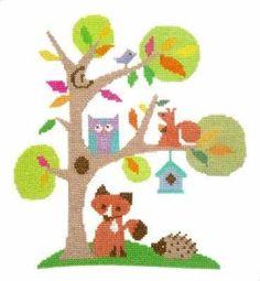 Woodland Animal Cross Stitch Kit - The Stitching Shed.
