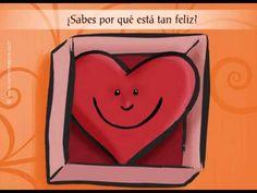 Tarjeta de . Te envío mi corazón - CorreoMagico.com Tan Feliz, Animation, Youtube, Fictional Characters, Videos, Gifs, Beauty, Paper, Cute Kiss
