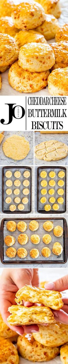 These Cheddar Cheese Buttermilk Biscuits are really simple and quick to make, so delicious, tender, flaky and super cheesy. Loaded with cheddar cheese and super tender from the buttermilk, these biscuits are the perfect addition to any meal, or enjoyed as a snack. #biscuits #cheesebiscuits #buttermilkbiscuits via @jocooks