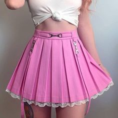 Harajuku Mode, Estilo Harajuku, Harajuku Fashion, Kawaii Fashion, Cute Skirts, Short Skirts, Mini Skirts, Cheap Skirts, Preppy Mode