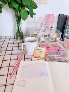 journal inspiration, journal ideas, cold tea