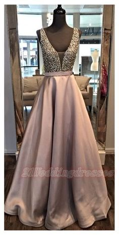 awesome Pretty Long Beading Prom Dresses For Teens,Modest Backless Evening Dresses,Prom . Prom Dresses For Teens, V Neck Prom Dresses, Beaded Prom Dress, Grad Dresses, Formal Dresses, Dresses 2016, Dress Prom, School Dresses, Prom Gowns