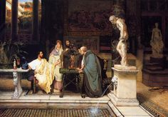 "HumanitiesWeb.org - ""A Roman Art Lover"" by Sir Lawrence Alma-Tadema [Selected Works]"