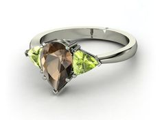 oh yes....maybe not the smokey quartz but its so sexy...  via: Customized engagement ring favorites from Gemvara | Offbeat Bride