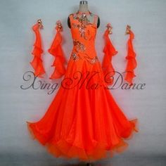 Online Shop New ! Free Shipping dance dress , ballroom dance dress wear,sexy Orange dance dress|Aliexpress Mobile