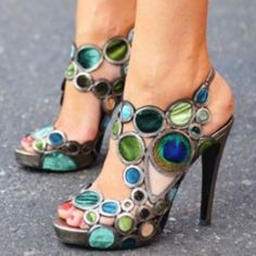 Peacock shoes....