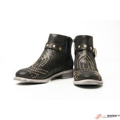 Botine din piele cu capse aurii marca Troppa Cape, Ankle, Boots, Fashion, Dyes, Mantle, Crotch Boots, Moda, Cabo
