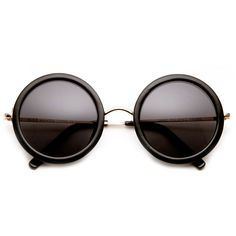 Rickie Thick Large Round Sunglasses ($9) found on Polyvore ! go follow me bc awesomeness lol @ dejamciver