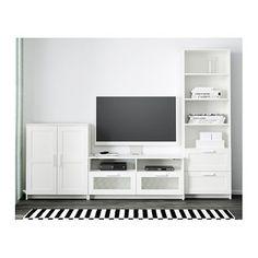 brimnes tv m bel kombination wei tv m bel die t r und kehren. Black Bedroom Furniture Sets. Home Design Ideas