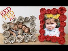 Newspaper Frame (Gift Kids Can Make) - Red Ted Art's Blog