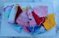 Vintage Religious Infant Of Prague Statue Gowns Robes Lot of 15