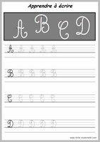 Apprendre à tracer des lettres majuscules