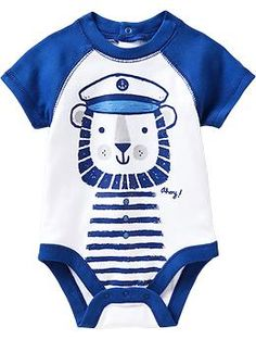 Nautical-Graphic Bodysuits for Baby | Old Navy