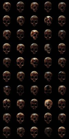 The Hope You Like Skulls series of British designer Billy Bogiatzoglou, aka Billelis, who imagined 50 skulls engraved with patterns inspired by many different cultures: Aztec, Roman, Greek, Celtic, but also more modern geometric patterns or even inspired by Space Invaders