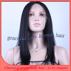 Find More Wigs Information about Top Quality yaki straight 7A Human Hair Full Glueless Lace Front Wigs With Baby Hair Malaysian Virgin Hair Wig For Black Women,High Quality Wigs from Graceful lady human hair store  on Aliexpress.com