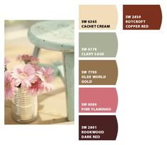 Shabby Chic Color Palette Couture Pinteres