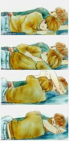 ChanBaek Fanart<---- I love how chanyeols awake but he isn't doing anything!!!