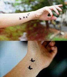 tatuagens de passaros no pulso